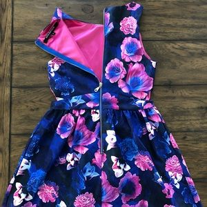 Other - Girls Miss Behave Floral Scuba Dress, Sizes S